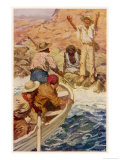 Explorers Eyre and Wylie Reach the Sea Where They are Rescued by French Whalers
