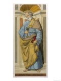 Saint Peter the First Pope Depicted Clutching the Keys of the Kingdom Given Him by Jesus