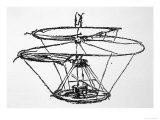 Leonardo Da Vinci Sketch of a Flying Machine