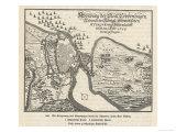 Map of the Siege of Copenhagen Denmark by Carl X Gustav of Sweden