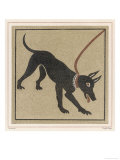 Mosaic of a Roman Dog on a Lead