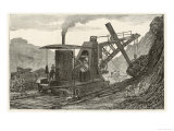 Steam Navvy Excavation Machine Used in Making a New Dock in Swansea