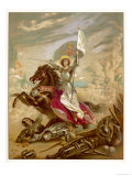 Joan of Arc an Idealised Representation  She Fulfils Merlin&#39;s Prophecy That a Virgin Will Come