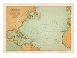 Map Showing the Travels of Columbus off the American Mainland