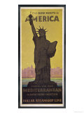 The New Route to America  Dollar Steamship Line Via the Mediterranean to New York and Boston