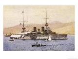 The French Battleship Suffren a Prominent Member of the Allied Fleet During the Gallipoli Campaign