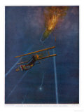 Lieutenant William Robinson is the First to Bring Down a Zeppelin Over England