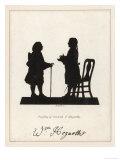 Silhouette Profiles of David Garrick Actor and William Hogarth Artist
