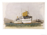 Cunard Passenger Liner Used During World War One as a Hospital Ship in the Gallipolli Campaign
