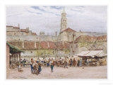 Market Day in Split (Now in Croatia) on the Dalmatian Coast