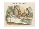 Alice au thé du Chapelier fou Giclée par John Tenniel