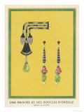 Egyptian-Style Jewellery by Cartier  a Brooch and Earrings