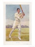 Rev Frank Hay Gillingham English Cricketer in Action
