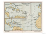 Map Showing the Voyages of Christopher Columbus