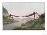 Rope Bridge Over a River
