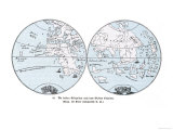 Map of the World in Two Halves According to Martin Behaim
