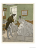Gentleman of the Romantic Era Invites a Lady to Dance