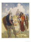 Sir Lancelot Challenges Sir Tarquin Who Has Imprisoned King Arthur&#39;s Knights