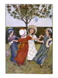 Four Young Girls Sing as They Go Round the Mulberry Bush