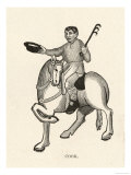 The Cook on a Frisky Horse Gestures with His Hat