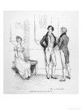 Mr. Darcy Finds Elizabeth Bennet Tolerable Giclée premium par Hugh Thomson