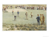 Tense Moment During a Championship Match at the Royal Sydney Golf Club Links Australia