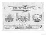 Plans and Cross-Sections of Brunel's Steamship the Great Eastern
