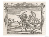 The Two Horses a Horse Carrying the Splendid Treasure of Money is Beaten and Robbed by Highwaymen