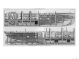 Longitudinal Sections of Brunel's Leviathan Steamship Otherwise Known as the Great Eastern