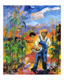 Harvest - Country - Corn Field - Farmer in Overalls
