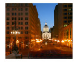 Capitol Building at night - Indianapolis  Indiana