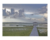 Wetlands of Topsail Island NC after a storm