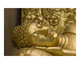 Parinirvana or reclining Buddha statue  Japanese peace pagoda in Darjeeling