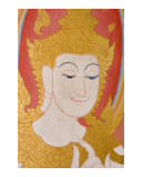 Bodhisattva mural painting in Thai Buddhist temple  Bodhgaya