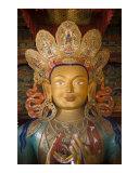 Golden Future Buddha Maitreya statue in Thikse monastery Ladakh