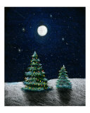 Moonlit Christmas Trees
