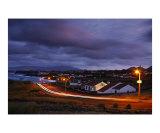 Village at twilight  Azores