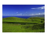 Aqueduct across the landscape  Azores