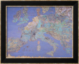 Map of Sixteenth Century Europe, from the Sala Del Mappamondo circa 1574-5 Reproduction encadrée par Giovanni De' Vecchi