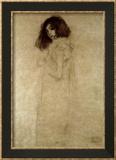 Portrait d'une jeune femme, 1896-97 Reproduction encadrée par Gustav Klimt