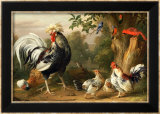 Poultry and Other Birds in the Garden of a Mansion