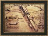 Catapulte géante, vers 1499 Reproduction encadrée par Leonardo Da Vinci