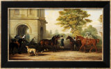 Lady Williams-Wynn's Favourite Phaeton  Ponies  Horses & Dogs at the Front Entrance at Wynnstay