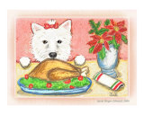 Westie & Christmas Dinner