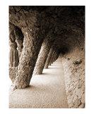 Antoni Gaudi's inclined columns at Park Güell
