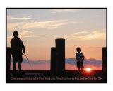 Boy & Dad Fishing