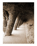 Antoni Gaudi's inclined columns at Park Güell