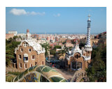 Barcelona Panoramic View from Antoni Gaudi's Parc Güell