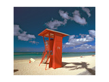 Lifeguard Tower  Waikiki Beach  Honolulu  Hawaii