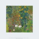 Farm Garden with Sunflowers, 1905 Reproduction d'art par Gustav Klimt